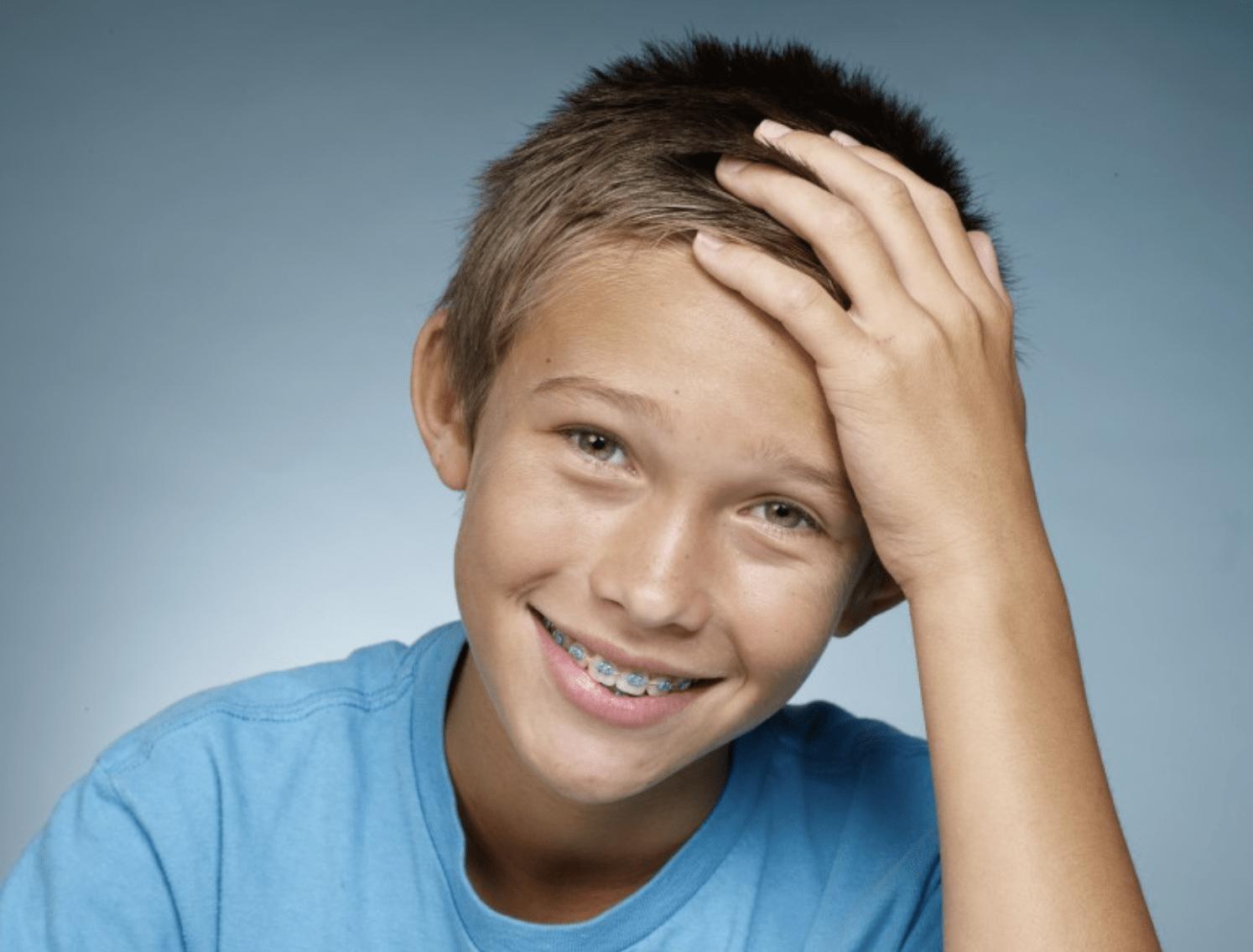 kid with braces