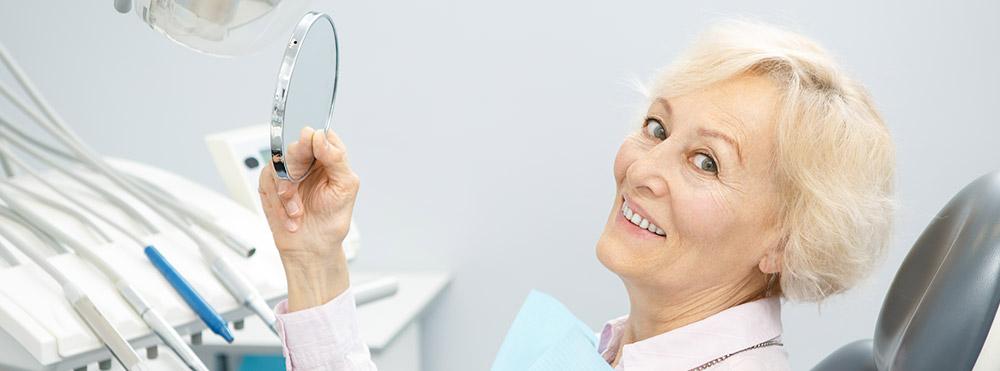Mature woman at the dentist